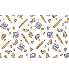 pencil sharpener seamless back to school fabric vector image