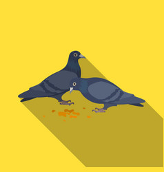 Pigeonold age single icon in flat style vector
