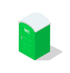 Portable toilet isometric public icon bathroom wc vector