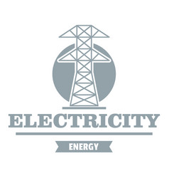 Power station logo simple gray style vector