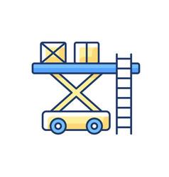 Ramp services rgb color icon vector