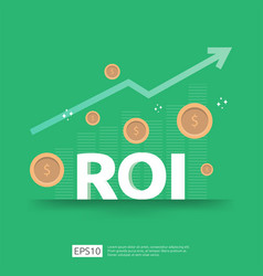 Return on investment concept business growth vector