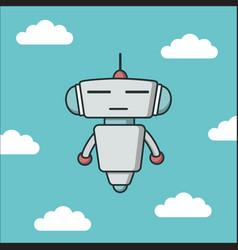 Robot flat icon vector
