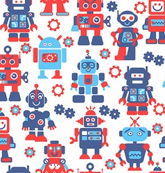 Robotrs color seamless pattern vector image