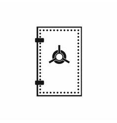 Safe door icon simple style vector