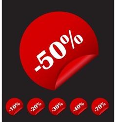 Sale Sticker Banner Template Set vector image