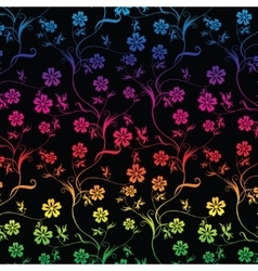 Seamless colorful floral vector image