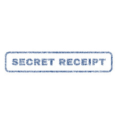Secret receipt textile stamp vector