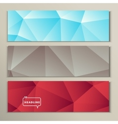 Set bright abstract image of gray blue red vector image