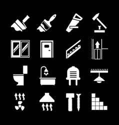 Set icons repair and building vector image