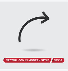 share icon in modern style for web site and vector image