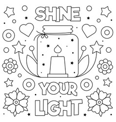 Shine your light coloring page vector