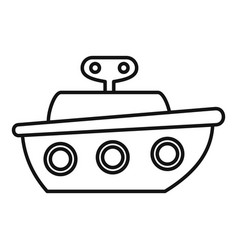 ship toy icon outline style vector image