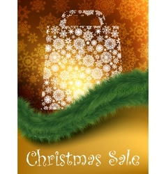 snowflakes shopping bag vector image