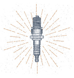 spark plug logo design template autoparts vector image