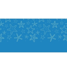 Starfish blue texture horizontal seamless pattern vector image