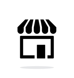 Store supermarket icon on white background vector image