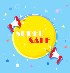 super selling banner colorful and playful design vector image