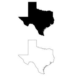Texas tx state map usa vector