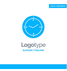 Time timer compass machine blue business logo vector