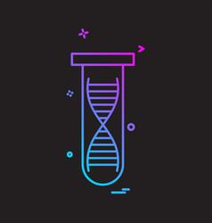 Tube dna icon vector