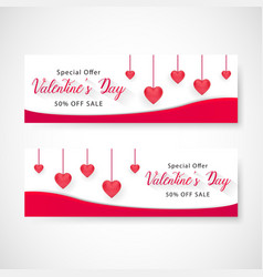 Valentines day sale banner eps file vector