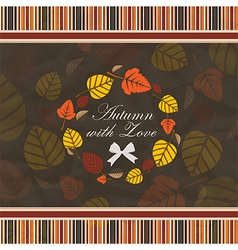 Vintage autumn background vector