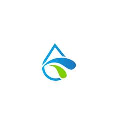 waterdrop splash bio eco logo vector image