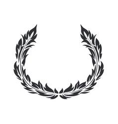 wrench black flat symbol vector image