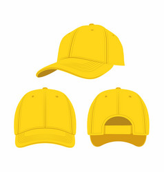 Yellow baseball cap vector