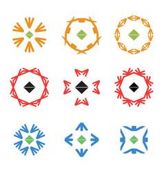 abstract arrow color icon logos set vector image vector image