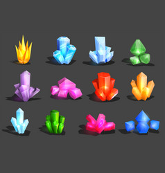 crystal crystalline stone or gem and vector image vector image