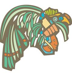 Mayan Warrior Head vector image