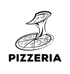 pizzeria logo vector image vector image