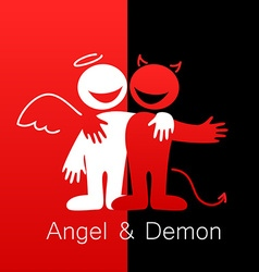 angel and demon vector image