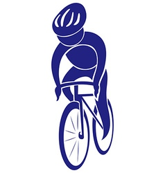 Cycling icon in blue color vector image vector image