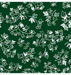 Doodle ivy leaves seamless pattern vector