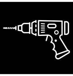 Electric Drill Sign vector image