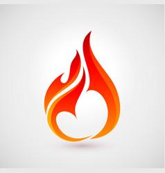 Fire icon vector