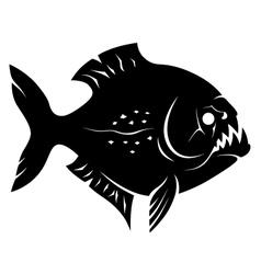 Piranha sign vector image