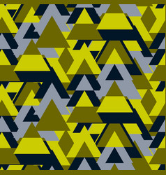 triangle camo bold seamless pattern vector image vector image
