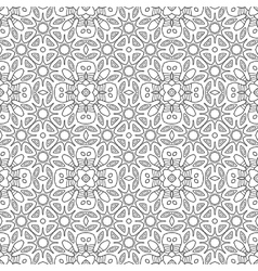 Black and white seamless pattern Decorative vector image vector image