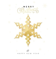 Christmas poster with gold hand lettering vector