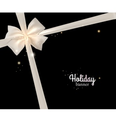 Elegant holiday banner with photorealistic white vector image