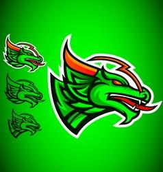 green dragon emblem logo vector image vector image