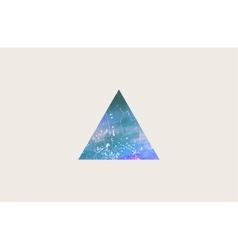 triangle logo design grunge triangle beautiful vector image vector image