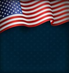 Wavy USA National Flag on Blue vector image vector image