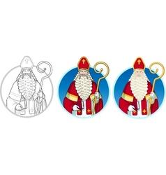 Christmas Character Sinterklaas set vector image vector image