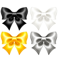 Festive bows black and gold vector image vector image