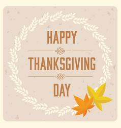 happy thanksgiving day typographic logotype vector image vector image